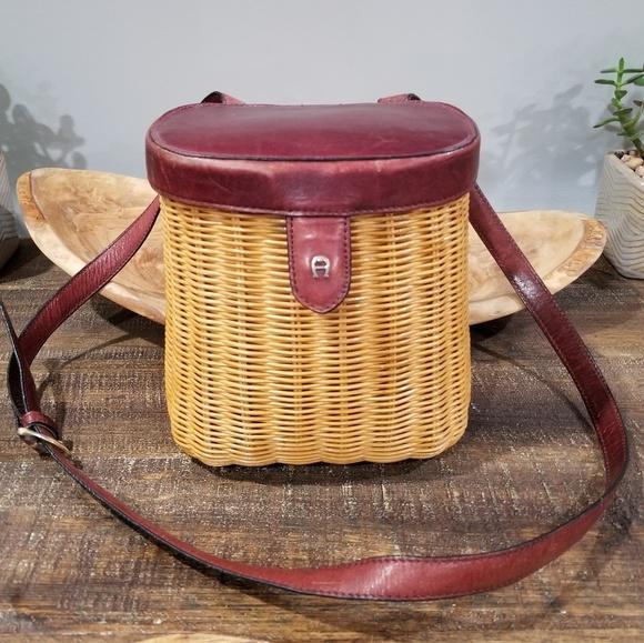 Etienne Aigner Handbags - Vintage Aigner Wicker Handbag